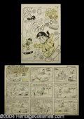 Autographs, Original Archie Mutt & Jeff Comic Art Lot