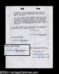 Autographs, Gary Cooper Vintage Signed Document