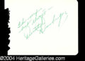 Autographs, Dorothy Dandridge Vintage Signature