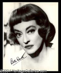 Autographs, Bette Davis Signed 8 x 10 Photo