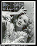 Autographs, Marlene Dietrich Signed Photo