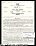 Autographs, Jimmy Durante Signed Mgmt Contract