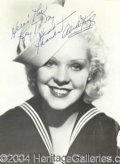 Autographs, Alice Faye Vintage Signed 11 x 14 Photo