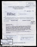 Autographs, Henry Fonda Signed Document