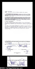 Autographs, Jane Fonda Signed Contract