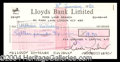 Autographs, Ava Gardner Signed Bank Check