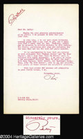 Autographs, Betty Grable Handwritten Letter Signed