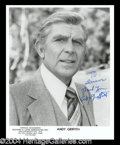 Autographs, Andy Griffith Signed 8 x 10 Photo