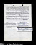 Autographs, Carolyn Jones Rare Signed Document