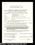 Autographs, Boris Karloff Vintage Signed Document