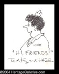 Autographs, Ted Key Signed Hazel Sketch