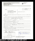 Autographs, Sam Kinison Early Signed SNL Document