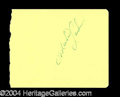 Autographs, Michael Landon Vintage Signature