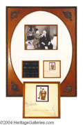 Autographs, Laurel & Hardy Signed Framed Display