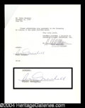 Autographs, Penny Marshall Signed Document