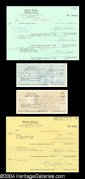 Autographs, Zeppo Marx Signed Check Lot