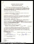 Autographs, Ethel Merman Signed Document