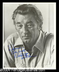 Autographs, Robert Mitchum Signed 8 x 10 Photo