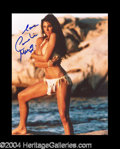 Autographs, Caroline Munro Sexy Signed Photo