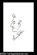 Autographs, Vincent Price Hand Drawn & Signed Caricature