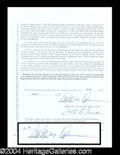 Autographs, Anthony Quinn Signed Management Agreement