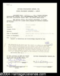 Autographs, Edward G. Robinson Signed Document