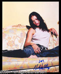 Autographs, Michelle Rodriguez Signed 8 x 10 Photo