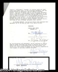 Autographs, Mimi Rogers Signed Movie Contract