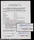 Autographs, Ginger Rogers Signed Document