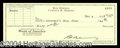 Autographs, Rod Serling Signed Bank Check