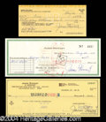 Autographs, James Stewart Signed Check Lot (3)