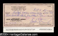 Autographs, Barbra Streisand Signed Bank Check