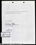 Autographs, Twiggy Original Signed Document