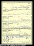 Autographs, Jerry Van Dyke Signed Bank Check Lot