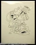 Autographs, Mort Walker Signed Limited Edition Beetle Bailey Litho