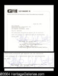 Autographs, Wolfman Jack Rare Signed Document