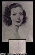 Autographs, Loretta Young Vintage Signed 11 x 14 Photo