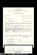 Autographs, Chubby Checker Rare Signed American Bandstand Contract