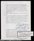 Autographs, Nat King Cole Rare Signed Contract
