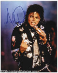 Autographs, Michael Jackson Signed 8 x 10 Photo
