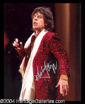 Autographs, Mick Jagger Signed 8 x 10 Photograph