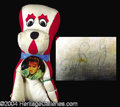 Autographs, Elvis Presley Vintage Signed Hound Dog Doll