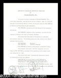 Autographs, Phil Spector Signed Document