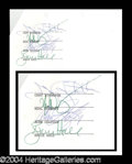 Autographs, REO Speedwagon Group Signed Document