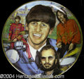 Autographs, Ringo Starr Rare Signed Collectors Plate