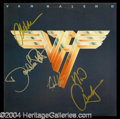 Autographs, Van Halen Signed Album w/ Roth!