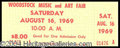 Autographs, Woodstock Original Unused Ticket