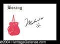 Autographs, Muhammad Ali Unique Signed Note Card