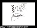 Autographs, John Andretti Hand Signed Sketch