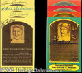 Autographs, Baseball Hall of Fame Postcard Signed Lot of 8